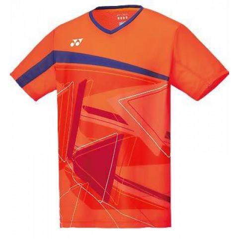 Yonex 10334 Men's Crew Neck Shirt [Flash Orange]