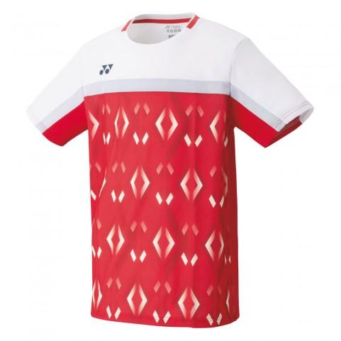Yonex 10340 Men's Crew Neck Shirt [Flash Red]