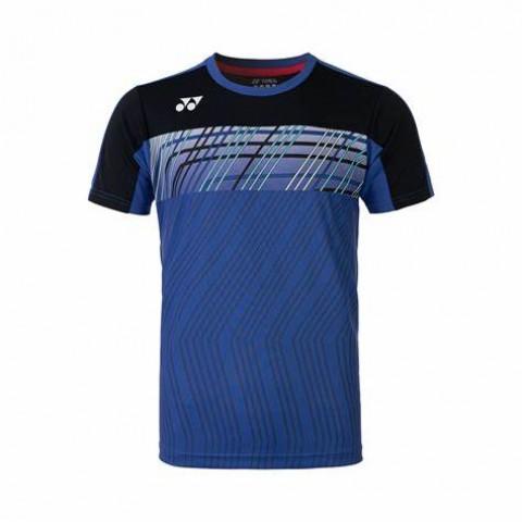 Yonex 10341EX Men's Crew Neck Shirt [Dark Blue]