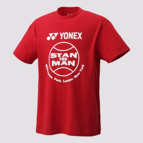 "Yonex 16295EX Unisex ""Stan the Man"" T Shirt (Black or Red)"
