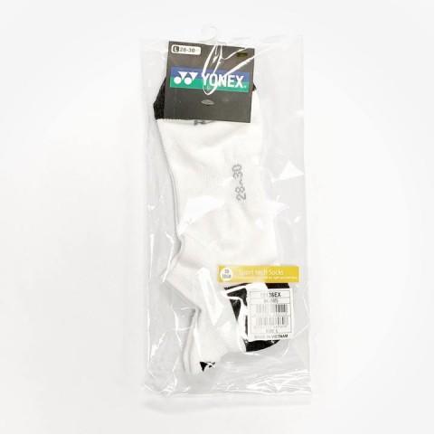 Yonex 19136EX 3D Ergo Low Cut Socks [Black/White]