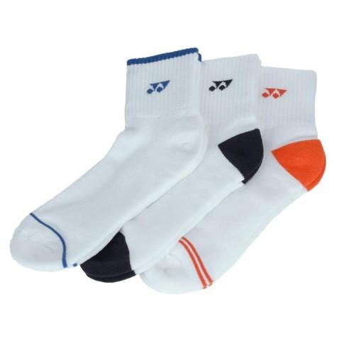 Yonex 19173EX 3-Pack Quarter Socks [white]
