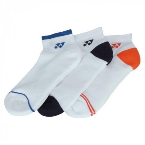 Yonex 19174EX 3-pack Low Cut Socks [White]