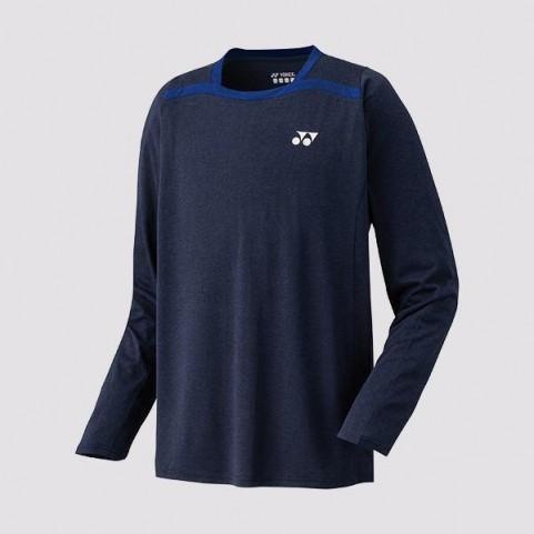 Yonex 16328EX Men's Long Sleeve Shirt [Navy Blue]